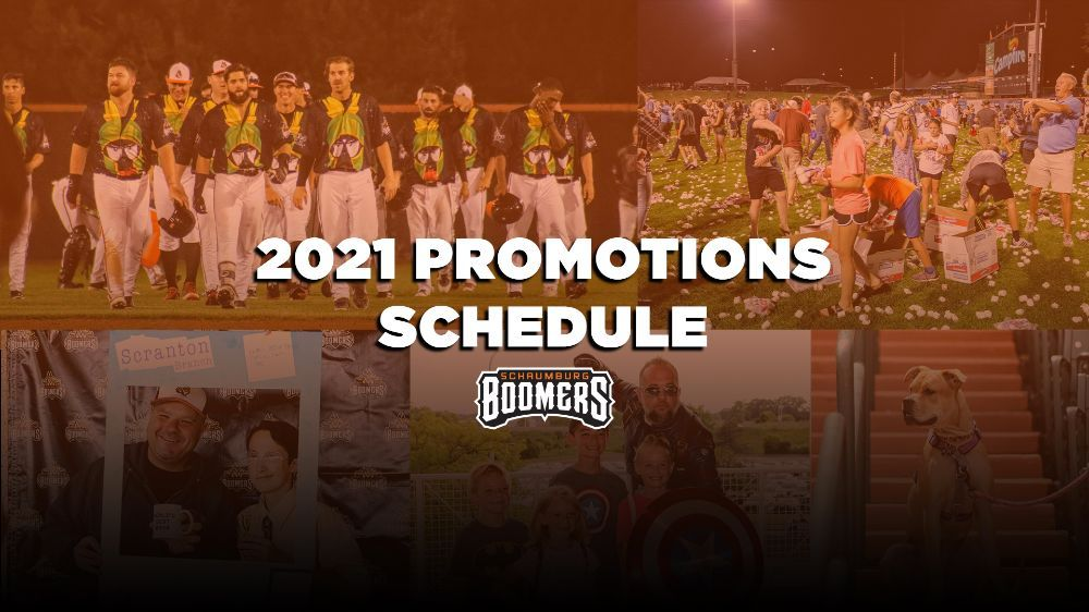 Schaumburg Boomers Announced 2021 Promotions Schedule