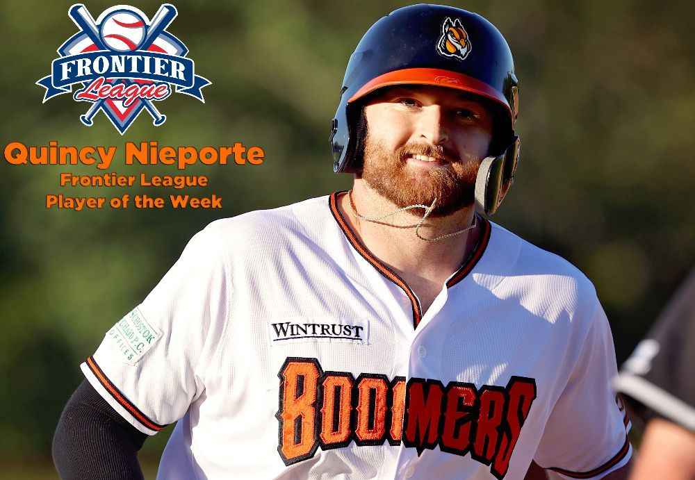 Nieporte Named Frontier League Player of the Week