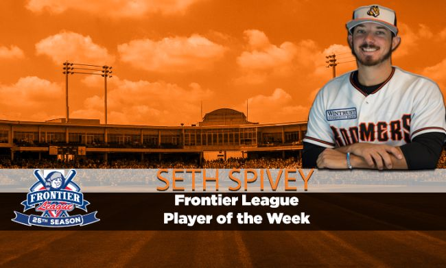 Spivey named Frontier League Player of the Week for second time this season