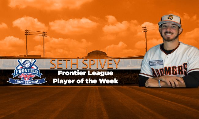 Spivey named Frontier League Player of the Week for second week in a row
