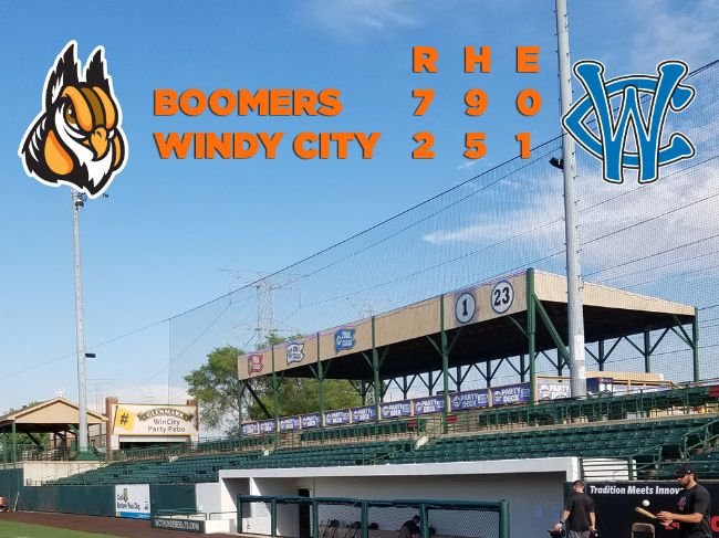 Boomers Score Abbreviated Sweep of Windy City