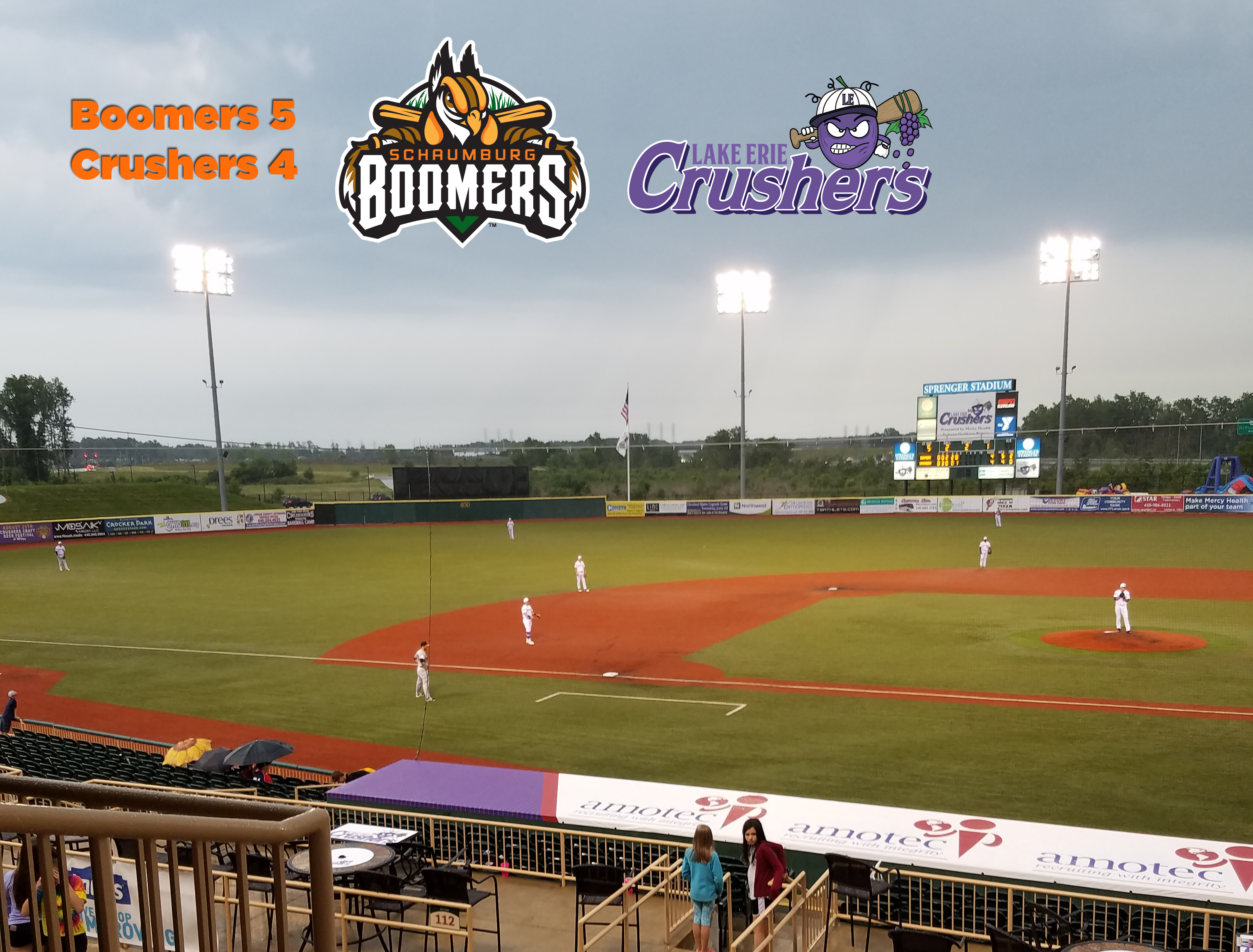 Boomers Hold Off Lake Erie to Sweep