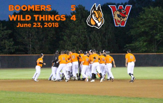 Boomers Tally Fifth Walk-Off Victory