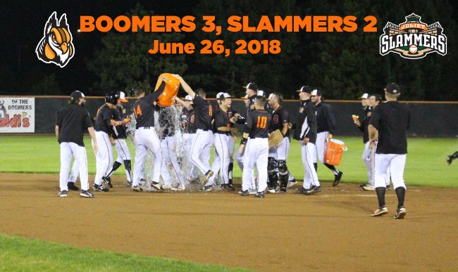 Boomers Beat Weather And Slammers