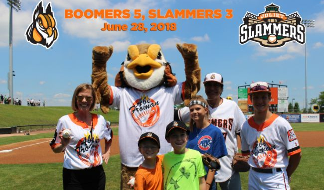 Boomers Rally to Dispatch Slammers