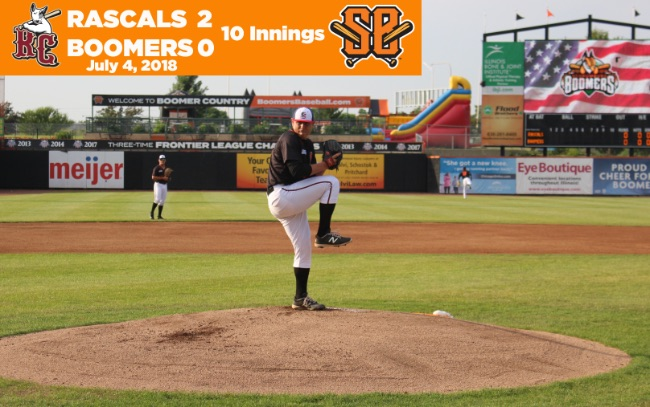Boomers Fall on Short End of Extra-Inning Pitcher's Duel