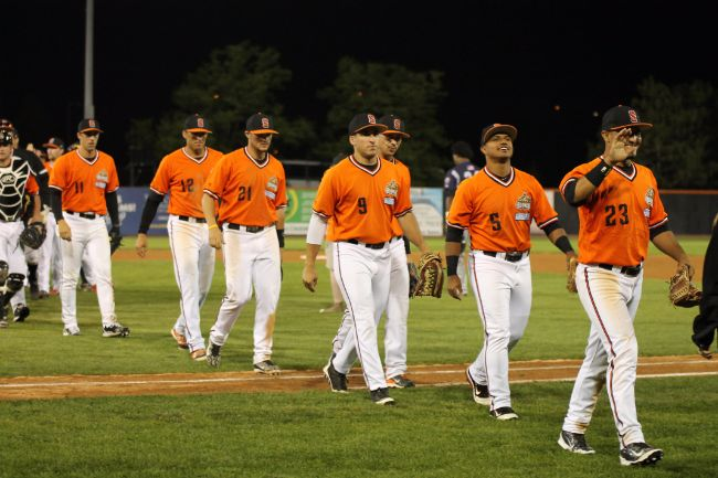 Weather Can't Slow Down Boomers in Comeback Victory
