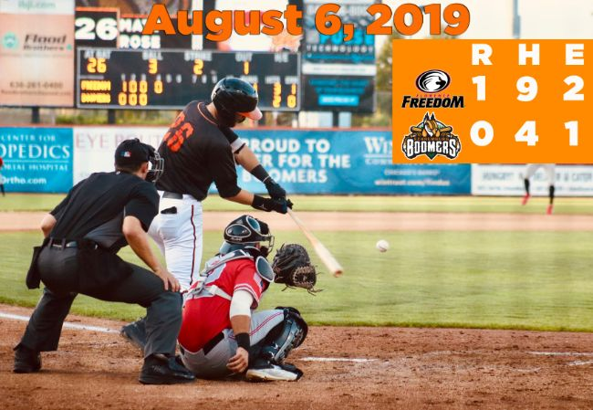 Boomers Shutout in Opener with Florence