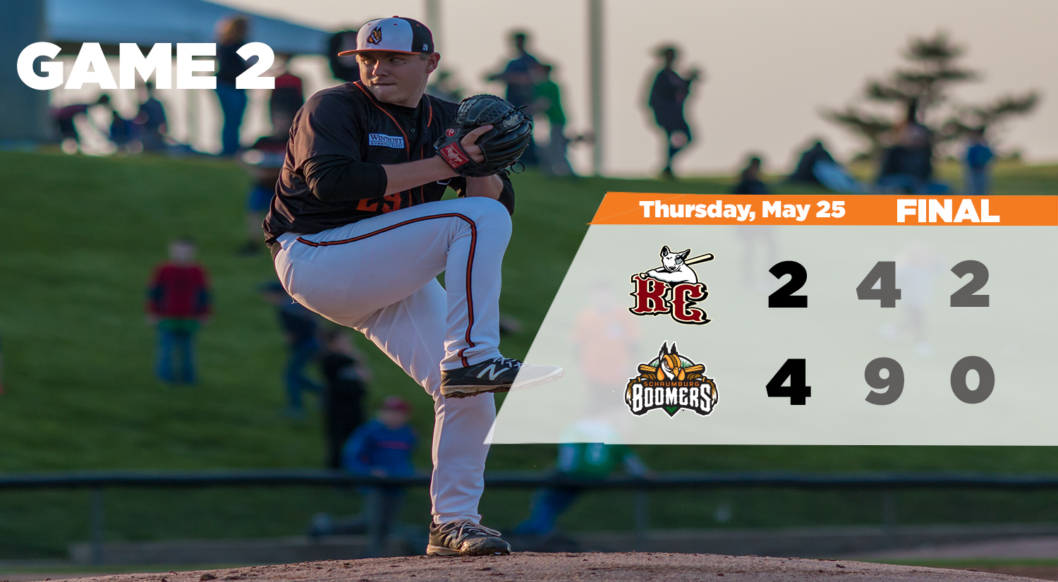 Boomers Split Doubleheader to Win Series