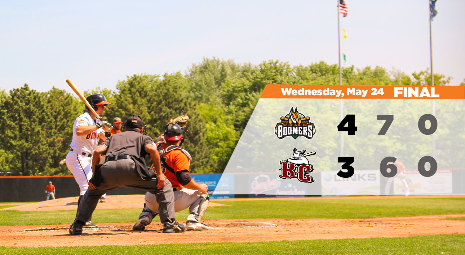 Boomers Hold Off River City in Series Opener
