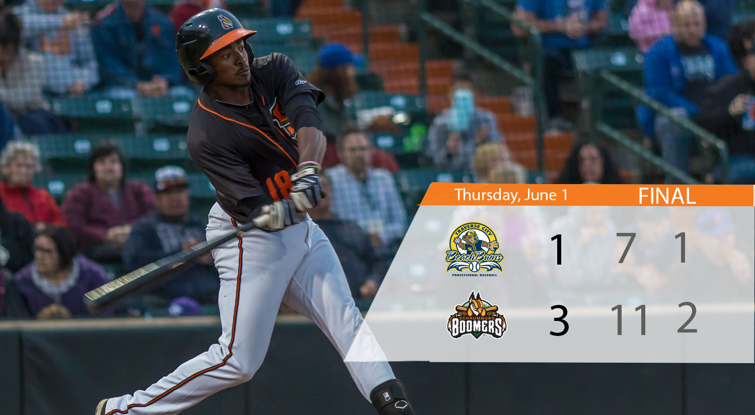 Boomers Edge Traverse City to Win Series