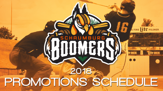 2018 Promotion Schedule Released