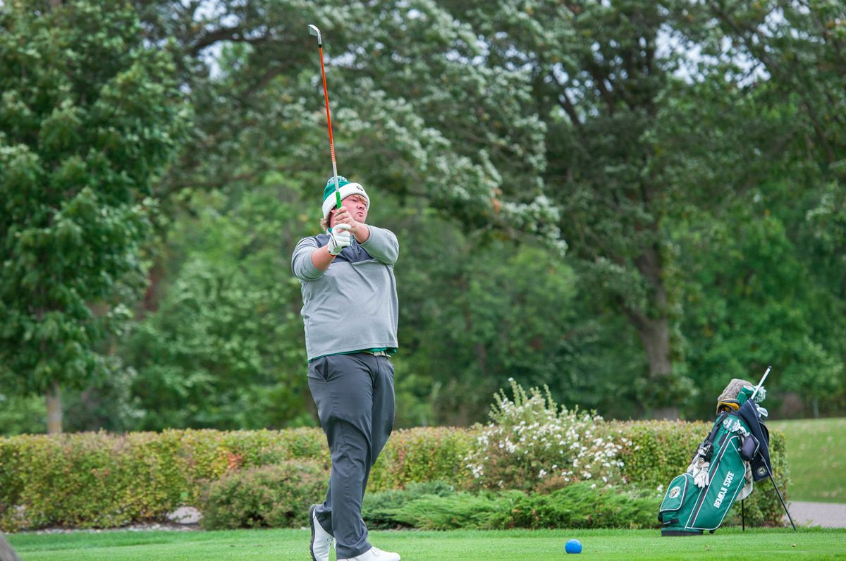 BSU Men's Golf stands tied for second after day one of NSIC Championship