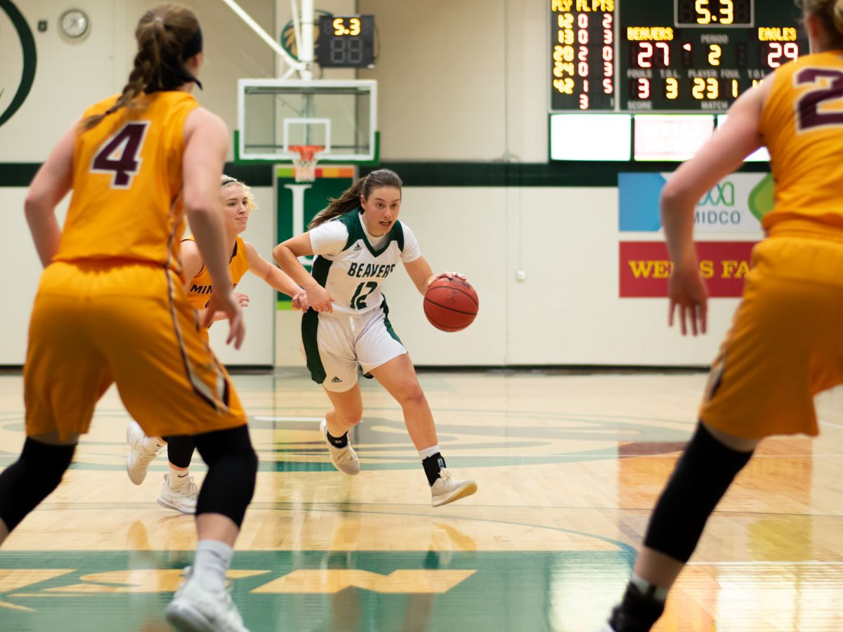Bachmann scores 18 points as Beavers fall to Golden Eagles, 73-63