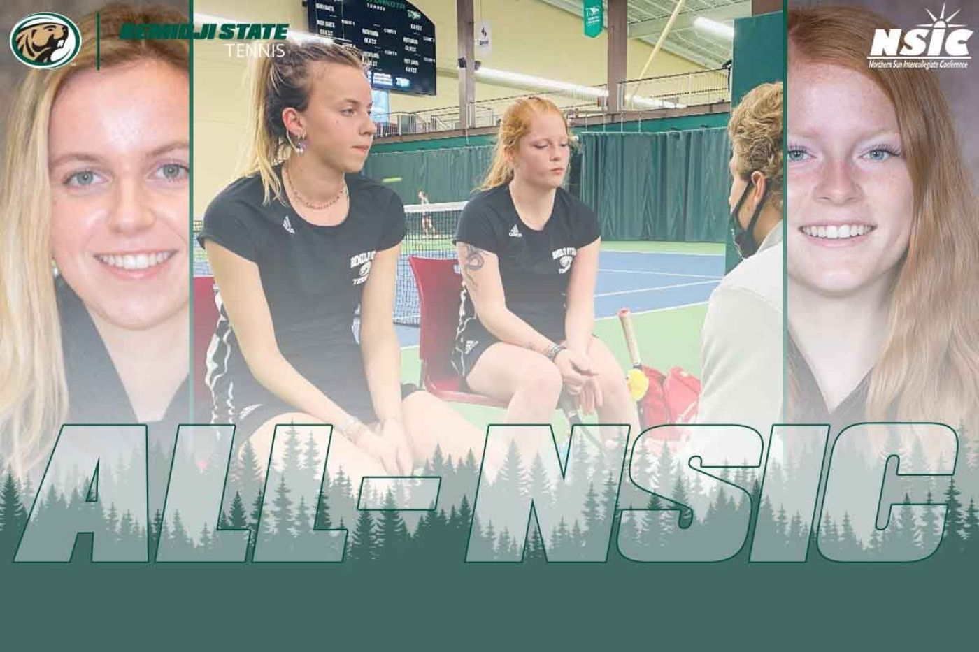 Groen and Johnson earn All-NSIC tennis honors