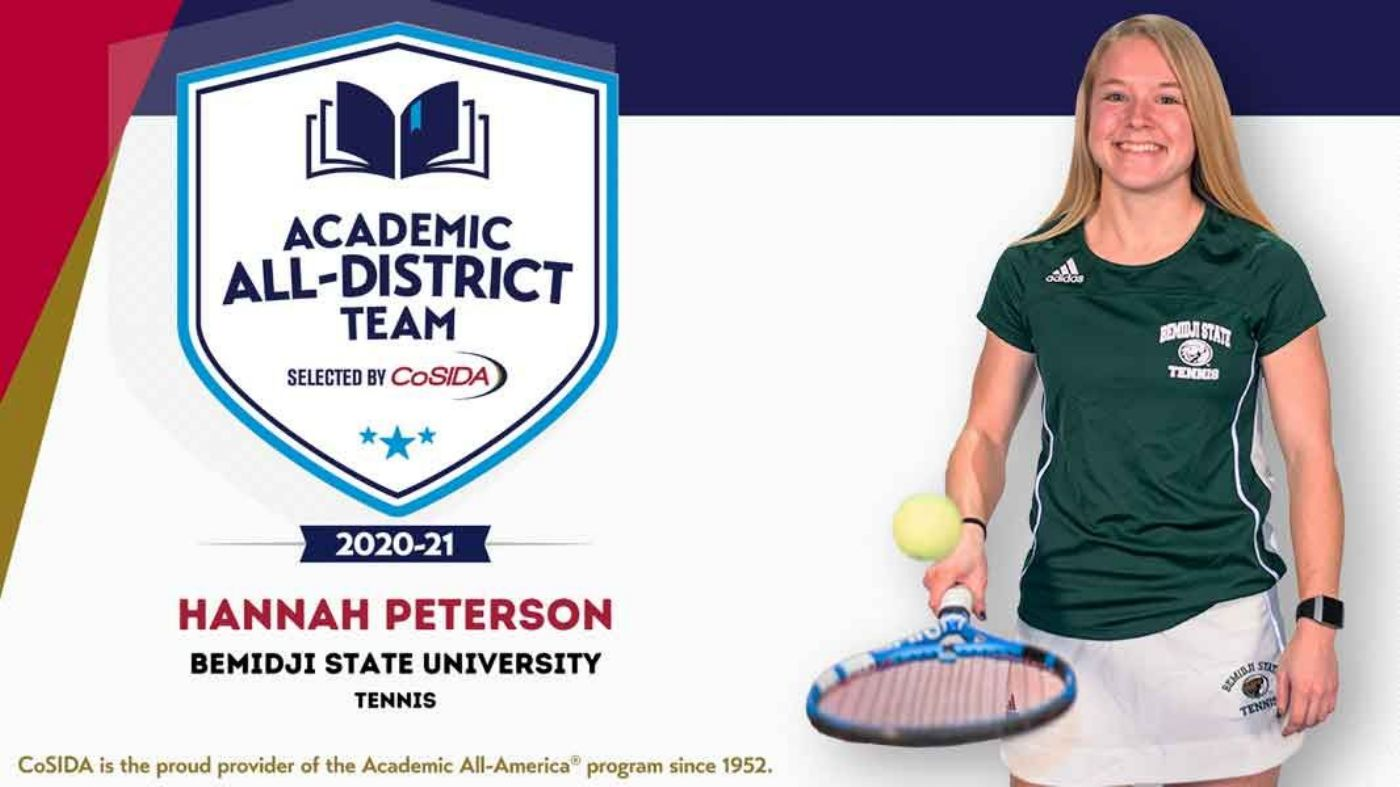 Bemidji State's Peterson earns Academic All-District 7 nod