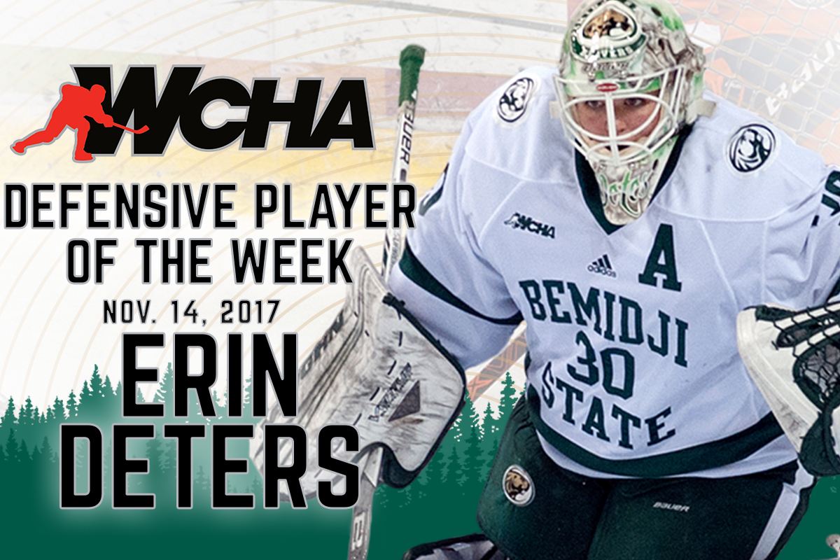 Deters earns first career WCHA nod