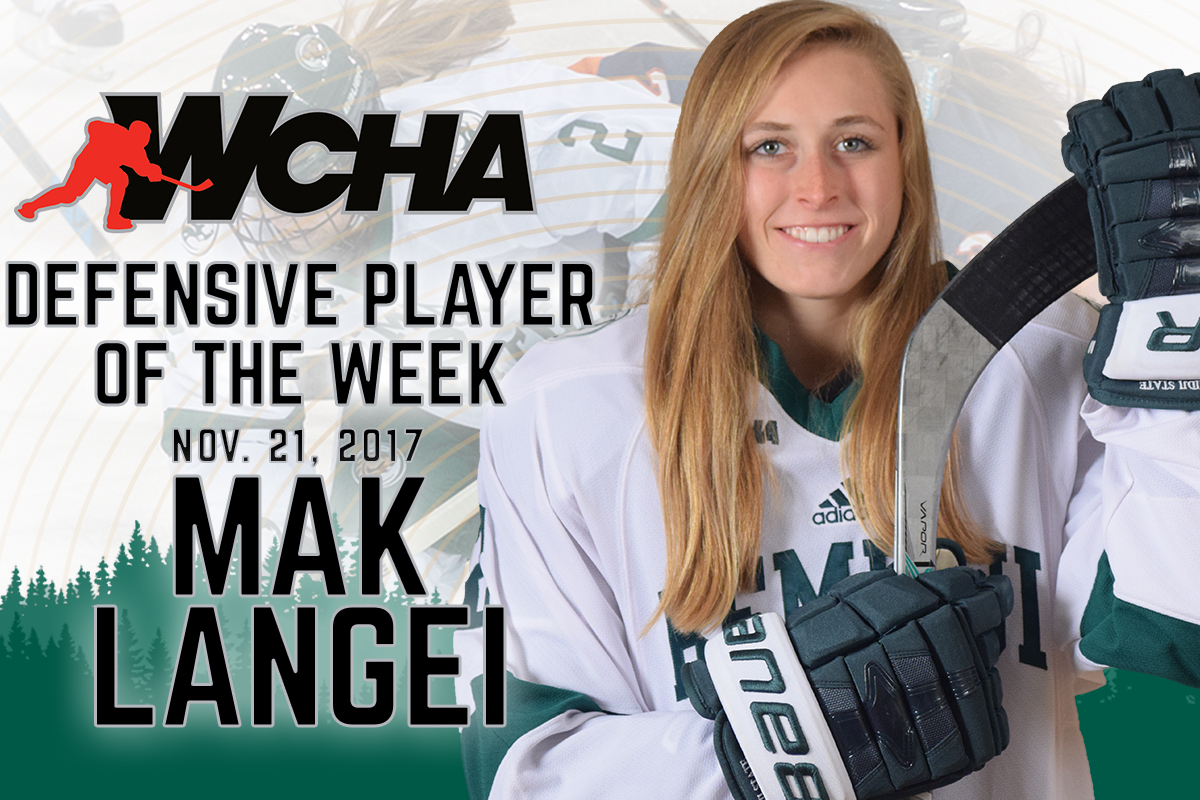 Langei honored with WCHA Defensive Player of the Week