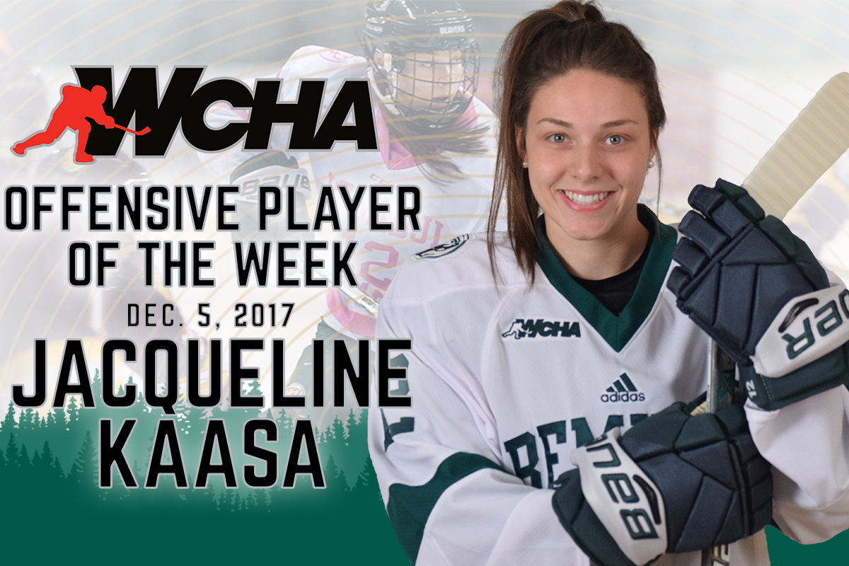 Kaasa named WCHA Offensive Player of the Week after four-point effort