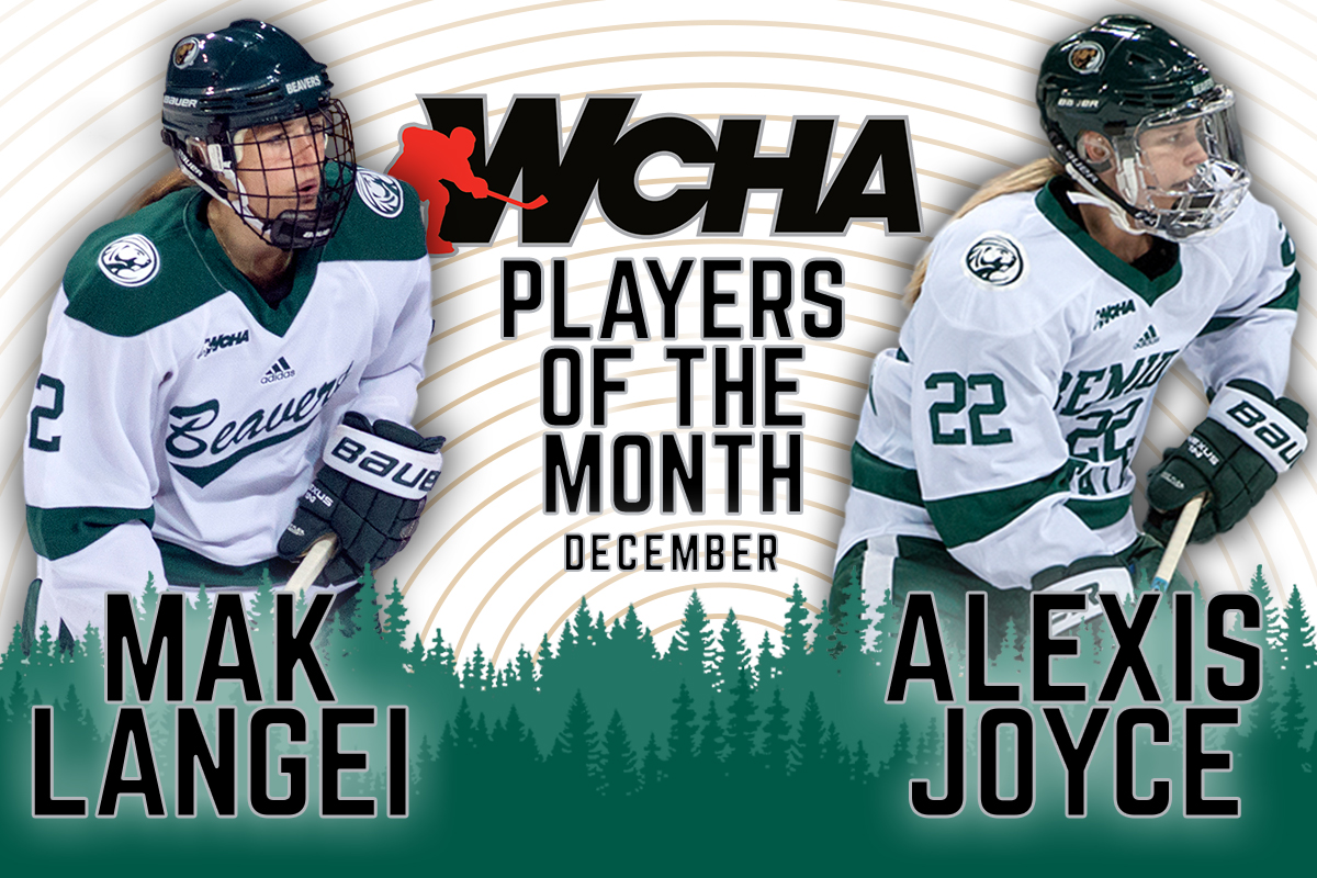 Joyce and Langei tabbed as WCHA Players of the Month