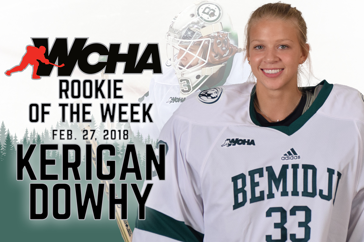 Dowhy recognized as WCHA Rookie of the Week