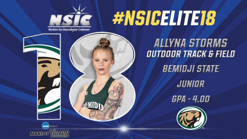 Outdoor track & field's Allyna Storms receives NSIC Elite 18 Award