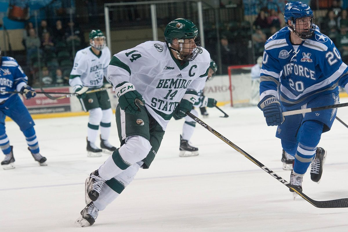 Bauman's Two Goals Rally Beavers Past No. 20 Air Force