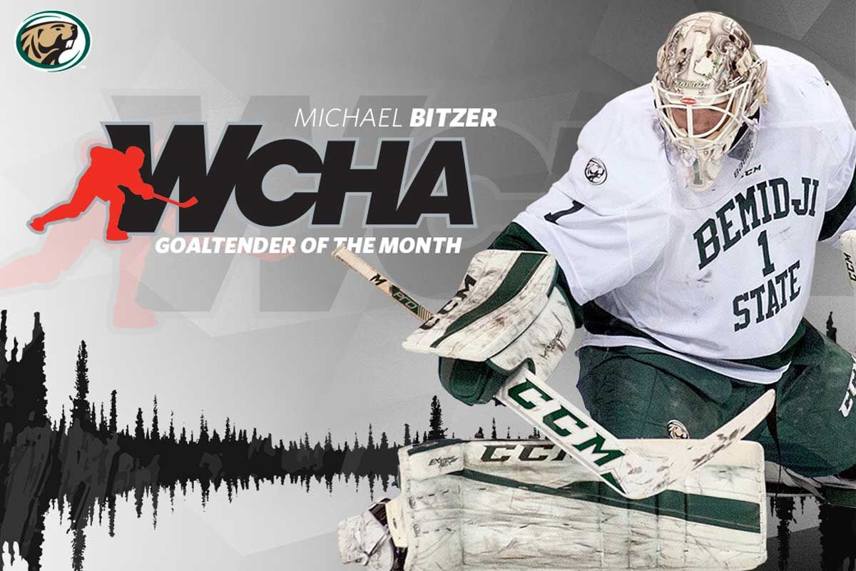 Bitzer earns WCHA Goaltender of the Month honor