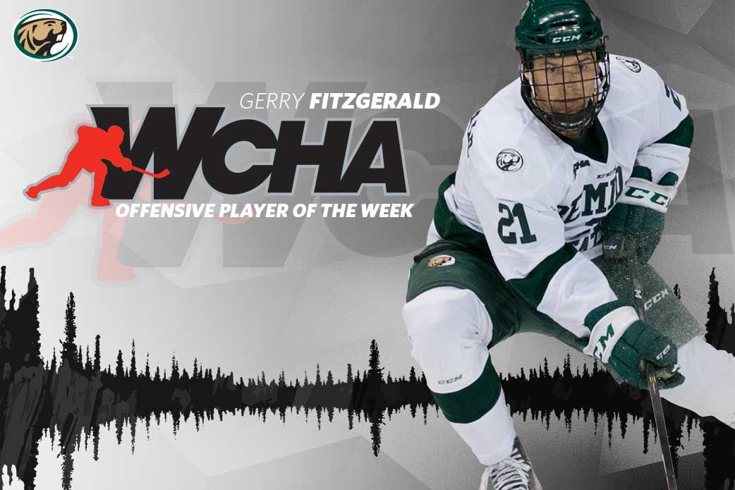 Bemidji State's Gerry Fitzgerald named WCHA Offensive Player of the Week