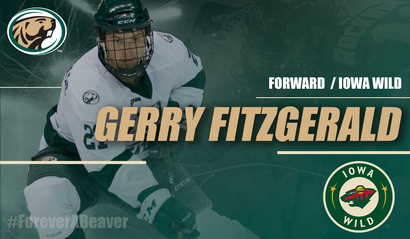 Gerry Fitzgerald extends hockey career with Wild AHL deal