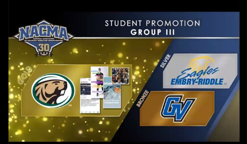 BSU Athletics claims NACMA gold award for student promotion