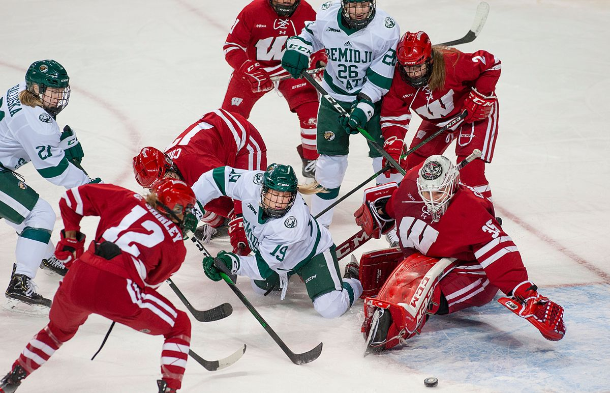 Beavers bounce back from two, one-goal deficits but No. 1 Badgers earn 3-2 victory