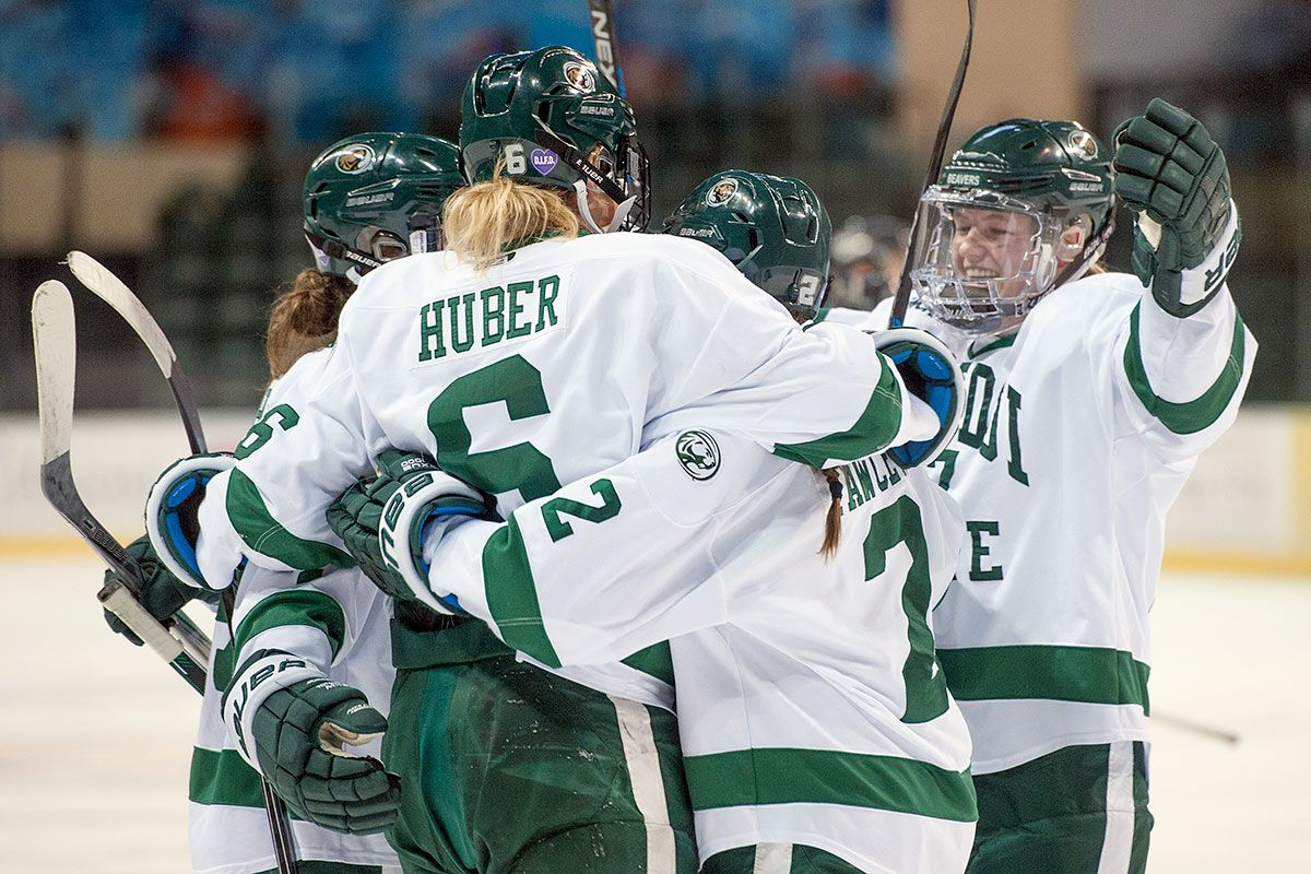 Huber scores twice to lead Beavers to 3-2 win over Bulldogs