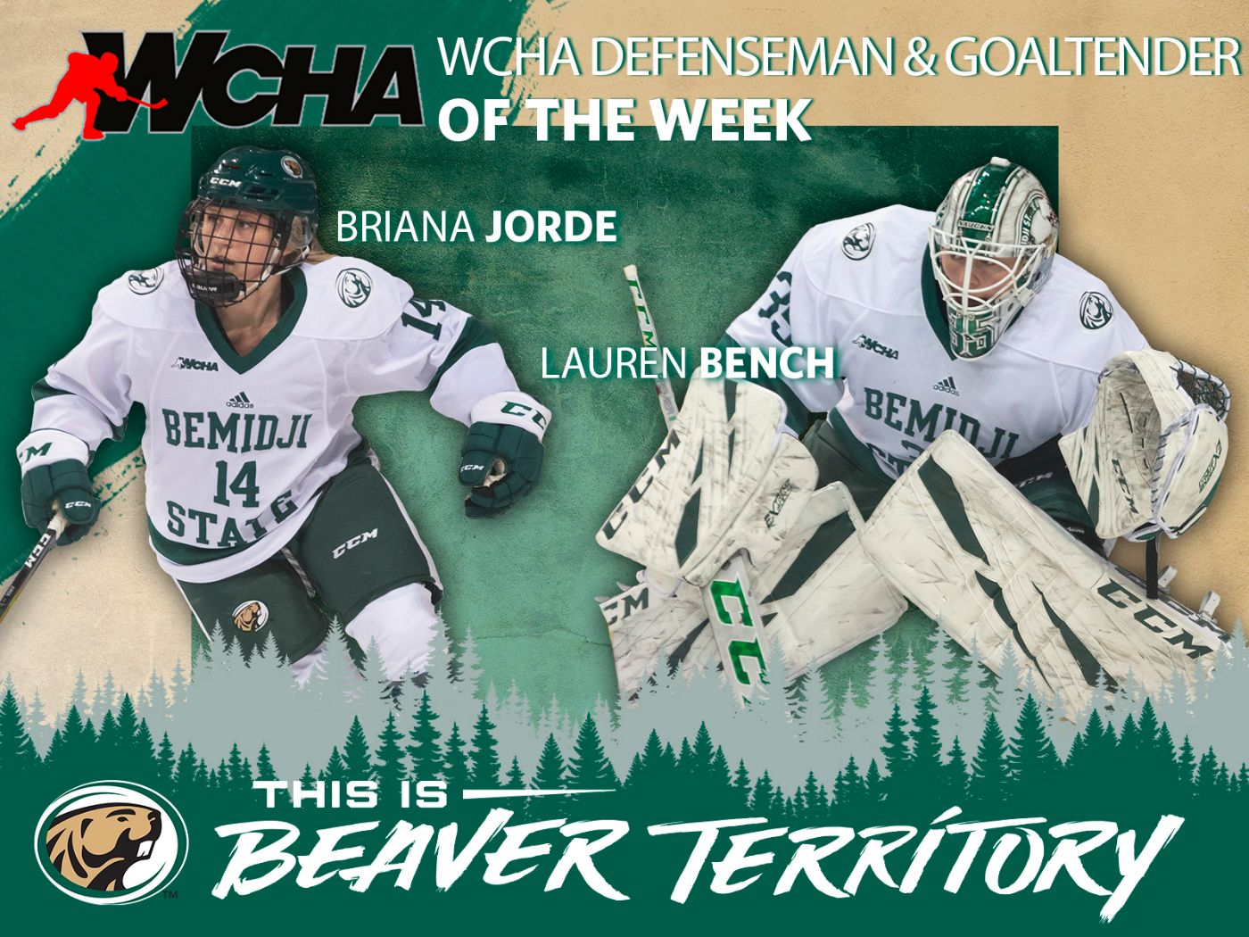 Jorde and Bench awarded with Player of the Week honors after series sweep