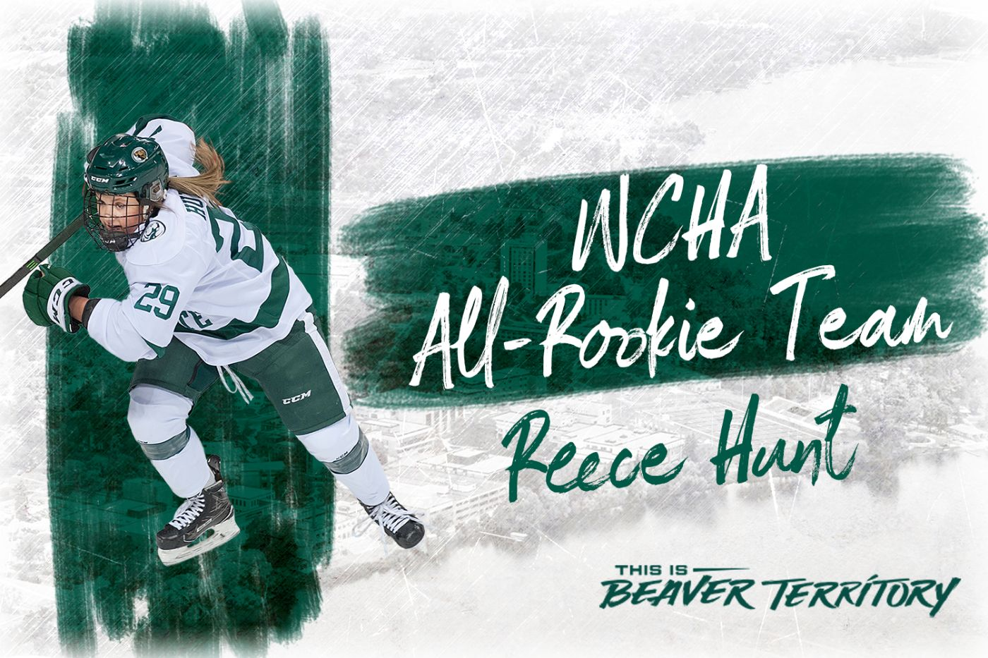 Hunt honored with WCHA All-Rookie Team selection
