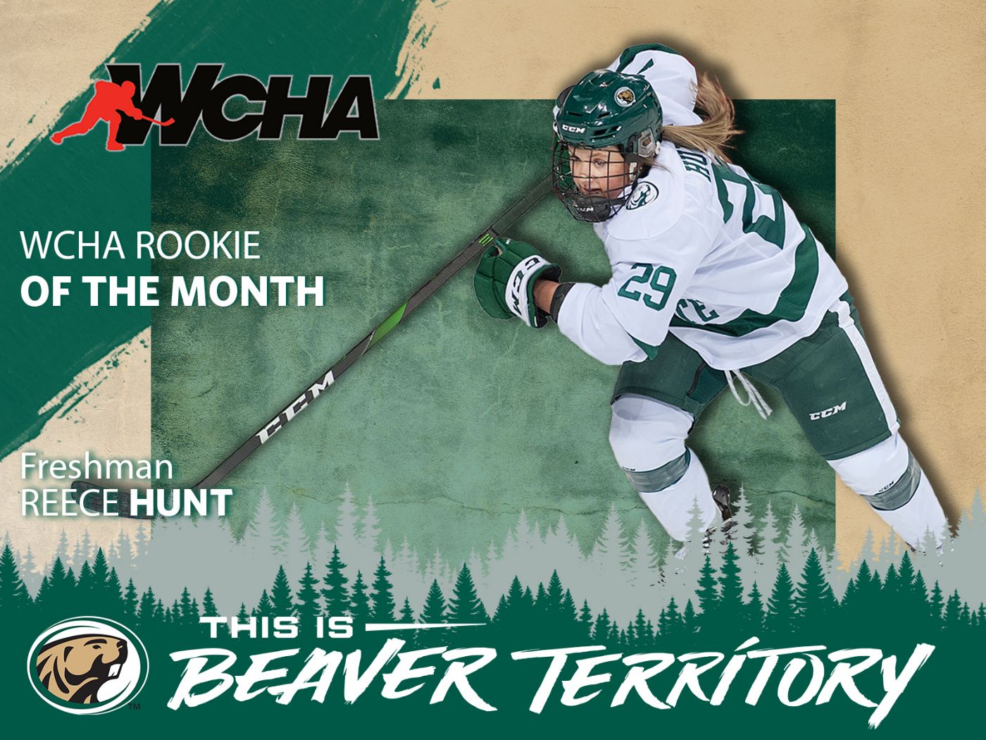Hunt earns WCHA Rookie of the Month for February