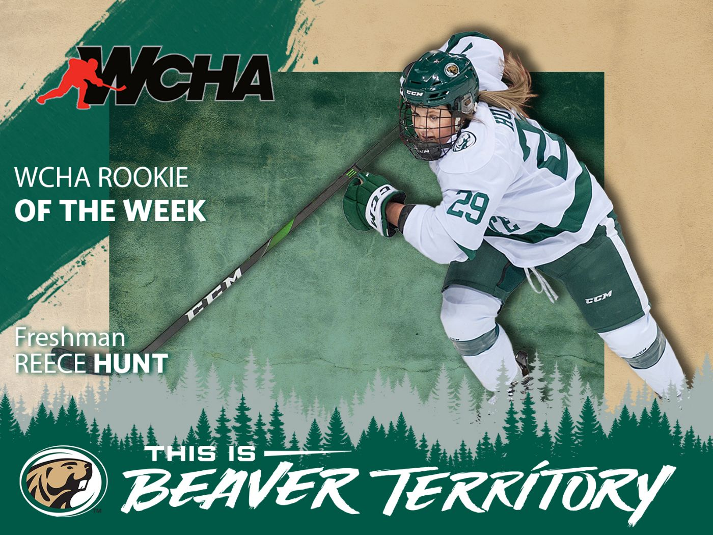 Hunt selected as WCHA Rookie of the Week after playoff performance