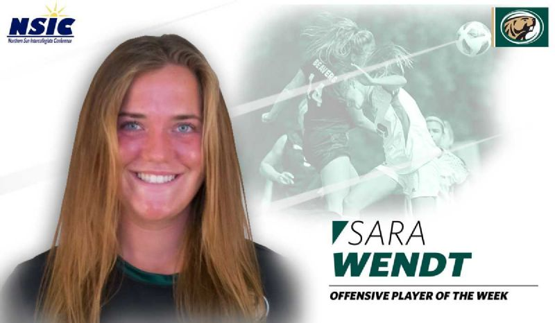 Bemidji State's Wendt earns second NSIC Player of the Week award