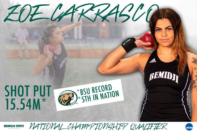 Carrasco qualifies for NCAA DII Outdoor Championships in the shot put