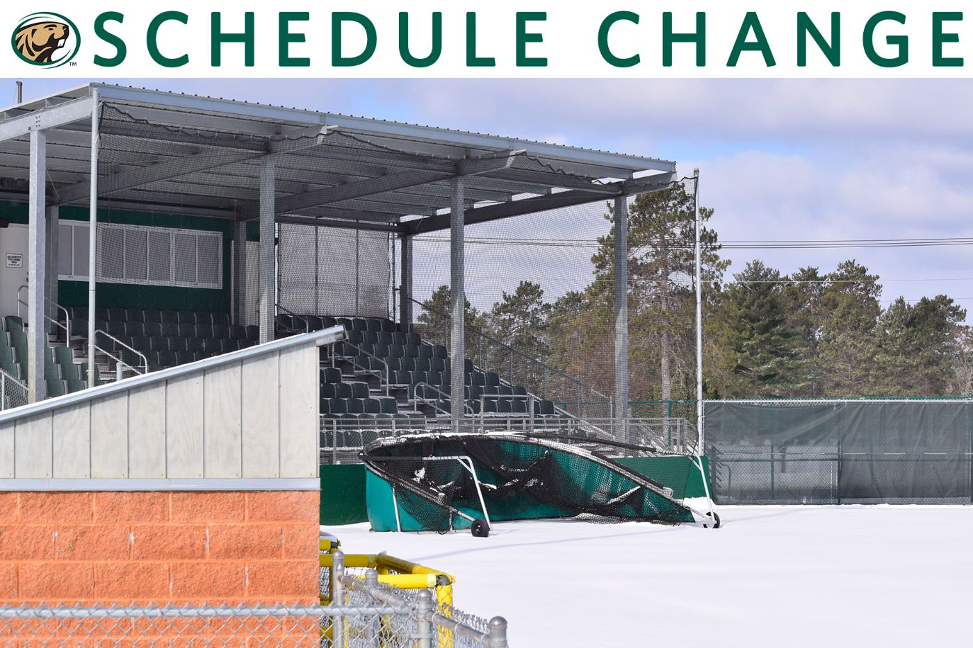 Early spring snow causes cancellation of BSU, SMSU three-game series