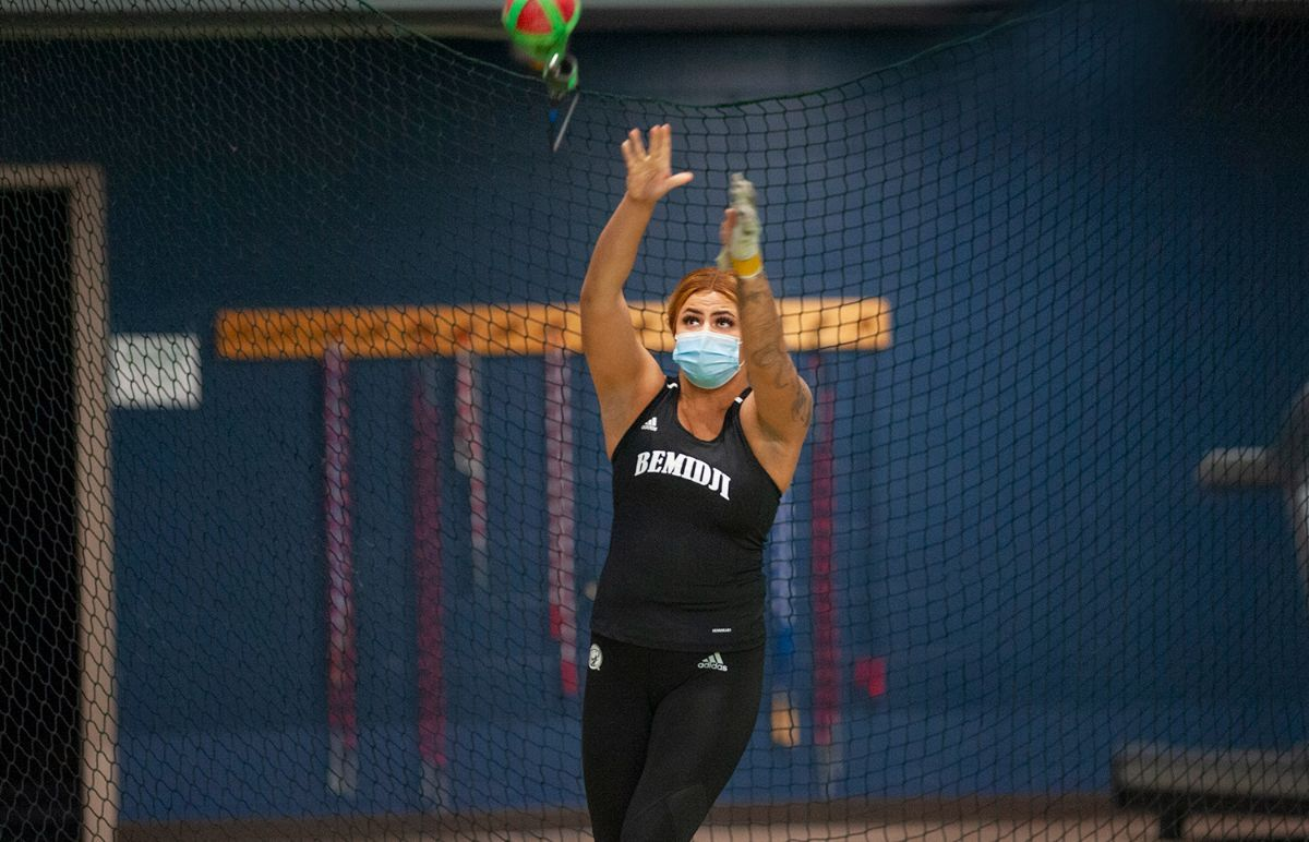 Carrasco sets Beaver Track & Field hammer throw record at Winona State Meet