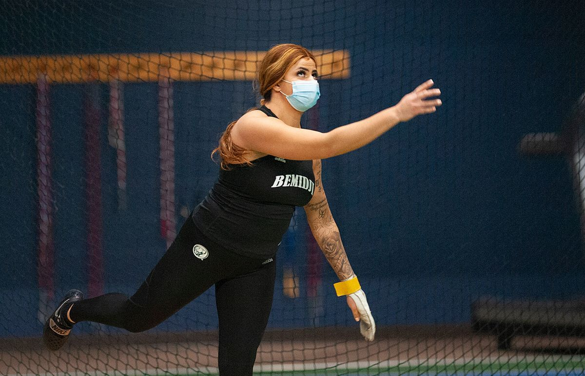 Carrasco wins NSIC shot put title as three records broken for track & field