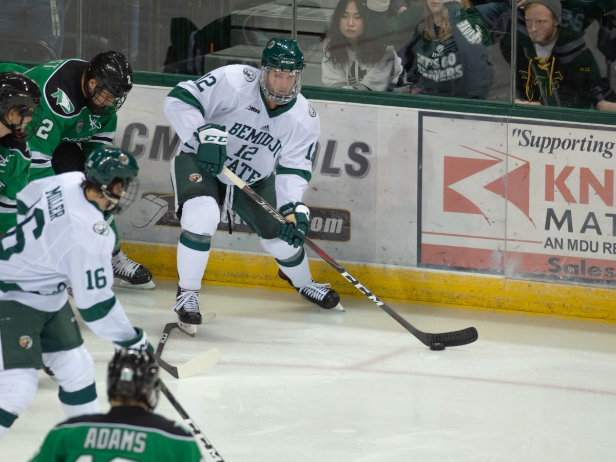 UND steals overtime victory from Bemidji State, 2-1