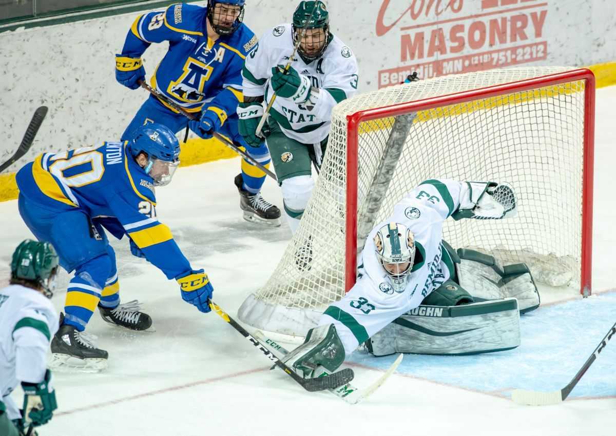 Beavers and Nanooks battle for top spot in the WCHA