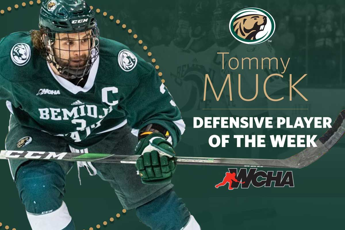 WCHA honors Muck as Defensive Player of the Week