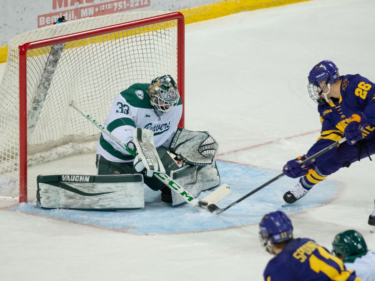 Driscoll posts career-high 48 saves in 4-2 victory over No. 3 Minnesota State