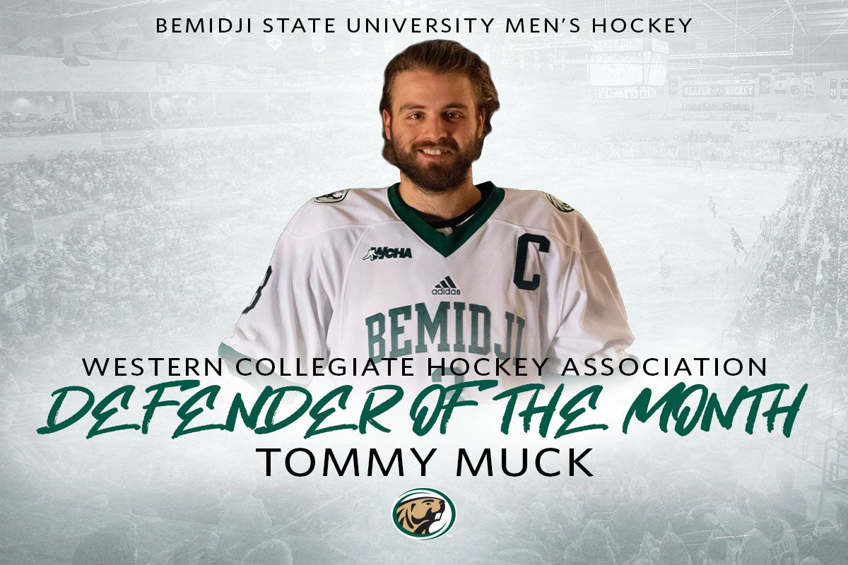 WCHA honors Muck as Defender of the Month Award