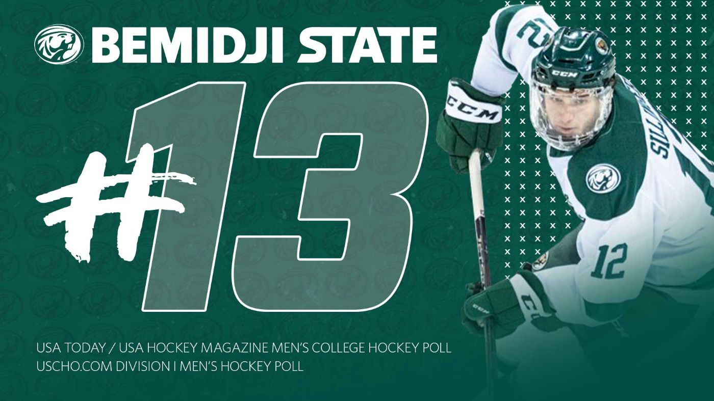Bemidji State climbs to No. 13 to 2019-20 debut in USAToday/USA Hockey Poll