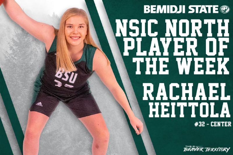 Heittola earns second NSIC Player of the Week honor this season