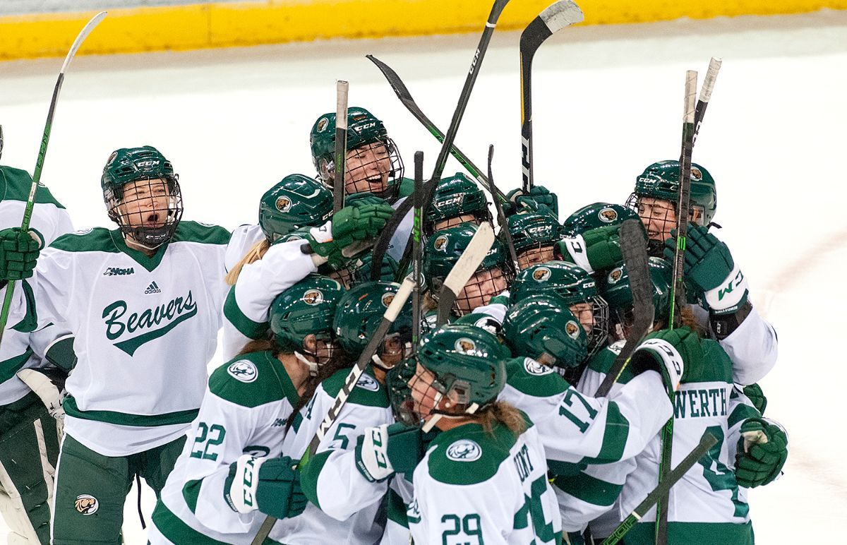 DeGeorge scores twice including overtime winner to even series with Huskies